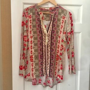Anthropologie Printed  Tunic Top